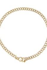 Adinas Diamond Baby Pavé Cuban Link Bracelet 14K