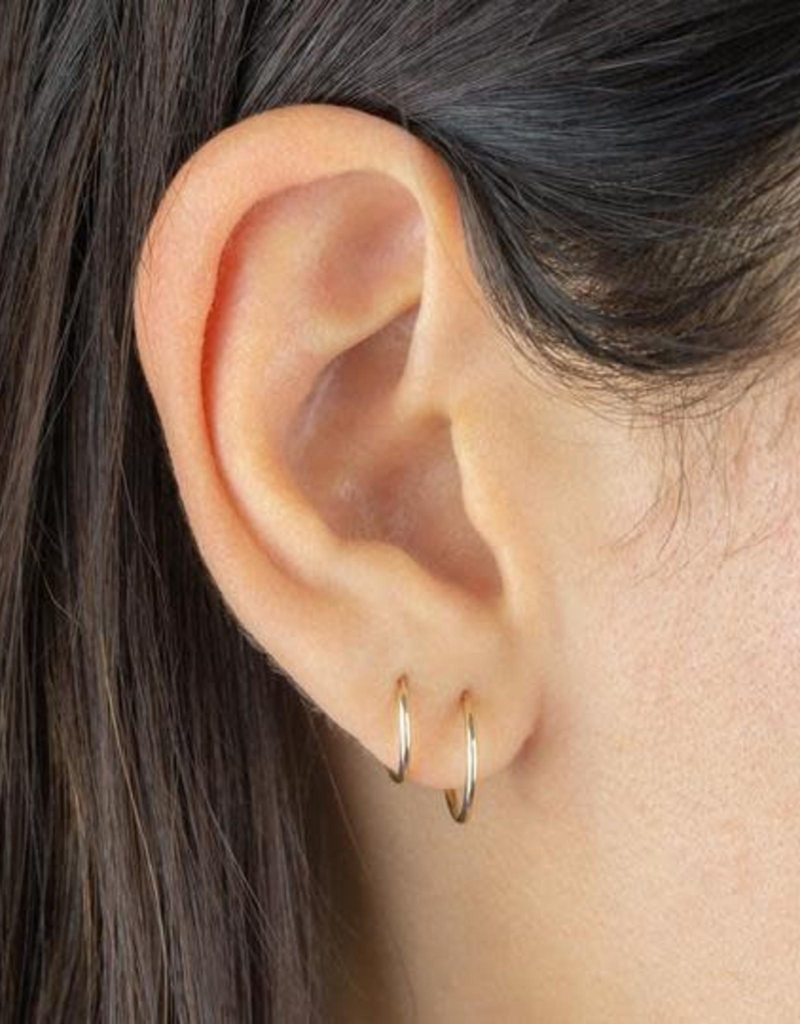 Adinas Endless Hoop Earring Combo Set 14K