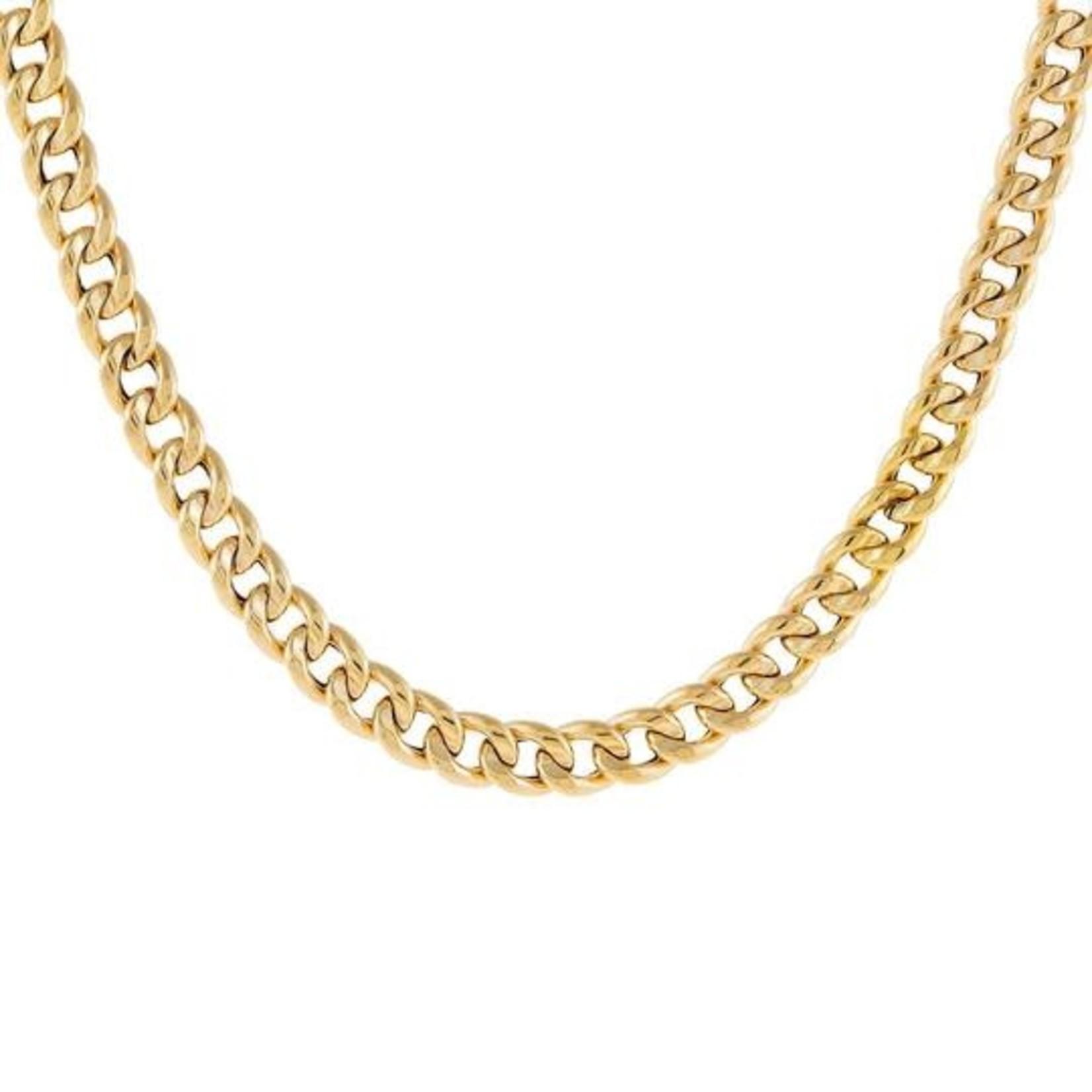 Adinas Hollow Round Cuban Necklace 14K