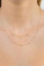 Adinas Diamond Multi Cross Necklace 14K