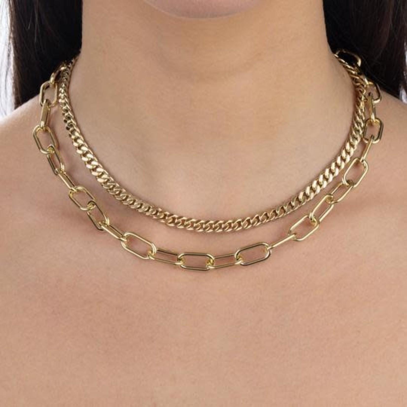 Adinas Miami Cuban Link Necklace 14K