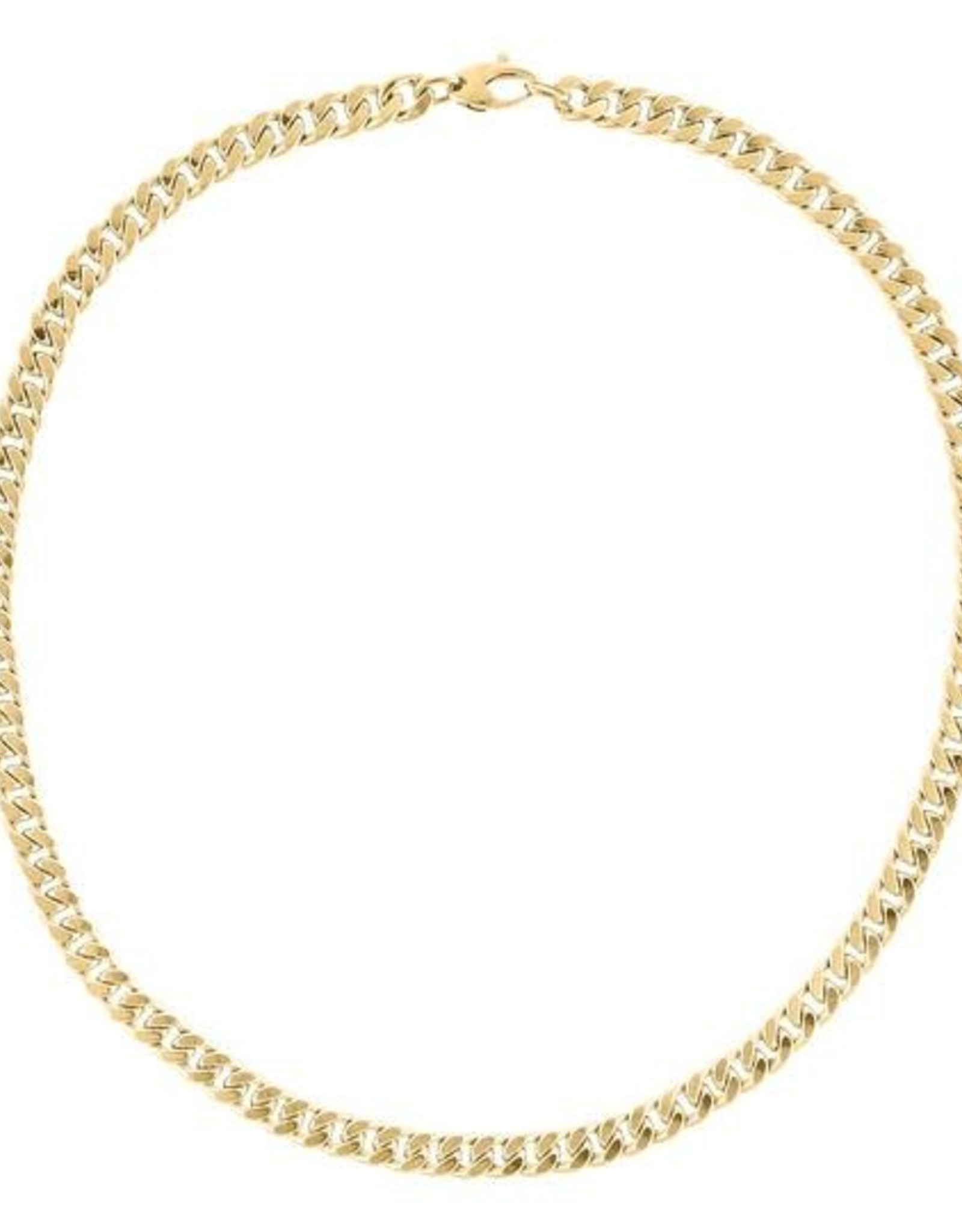 Adinas Miami Cuban Link Necklace 14K