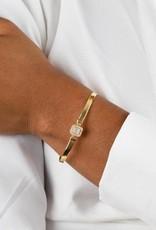 Adinas CZ Illusion Baguette Herringbone Bracelet 14K