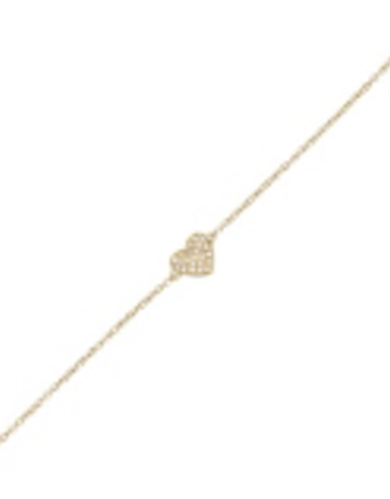 Adinas Diamond Heart Bracelet 14K