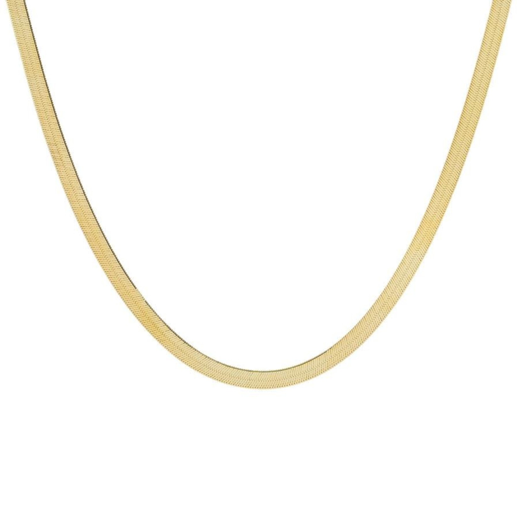 Adinas Thick Herringbone Necklace 14K