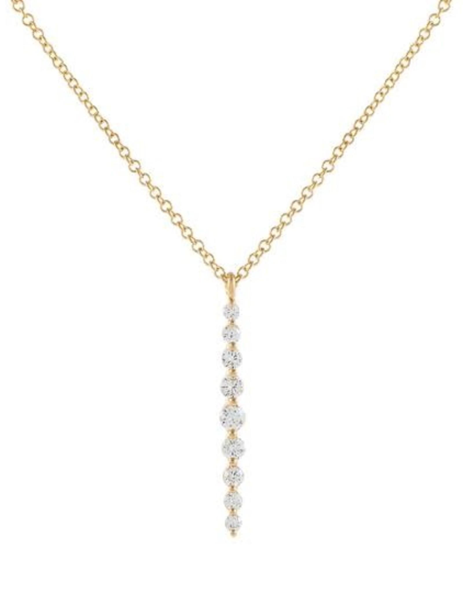 Adinas Floating Diamond Drop Necklace 14K
