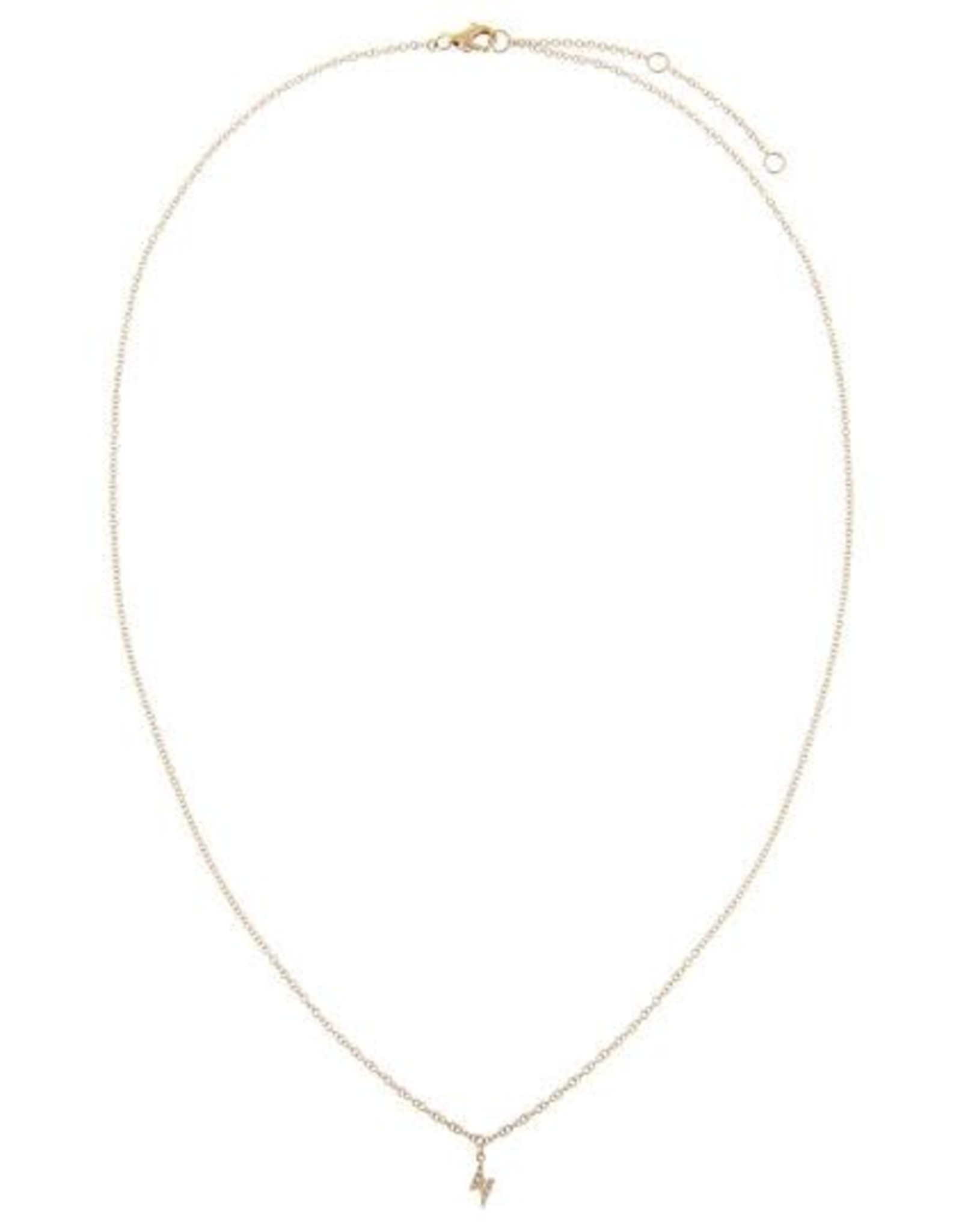 Adinas Diamond Tiny Lightning Bolt Necklace 14K