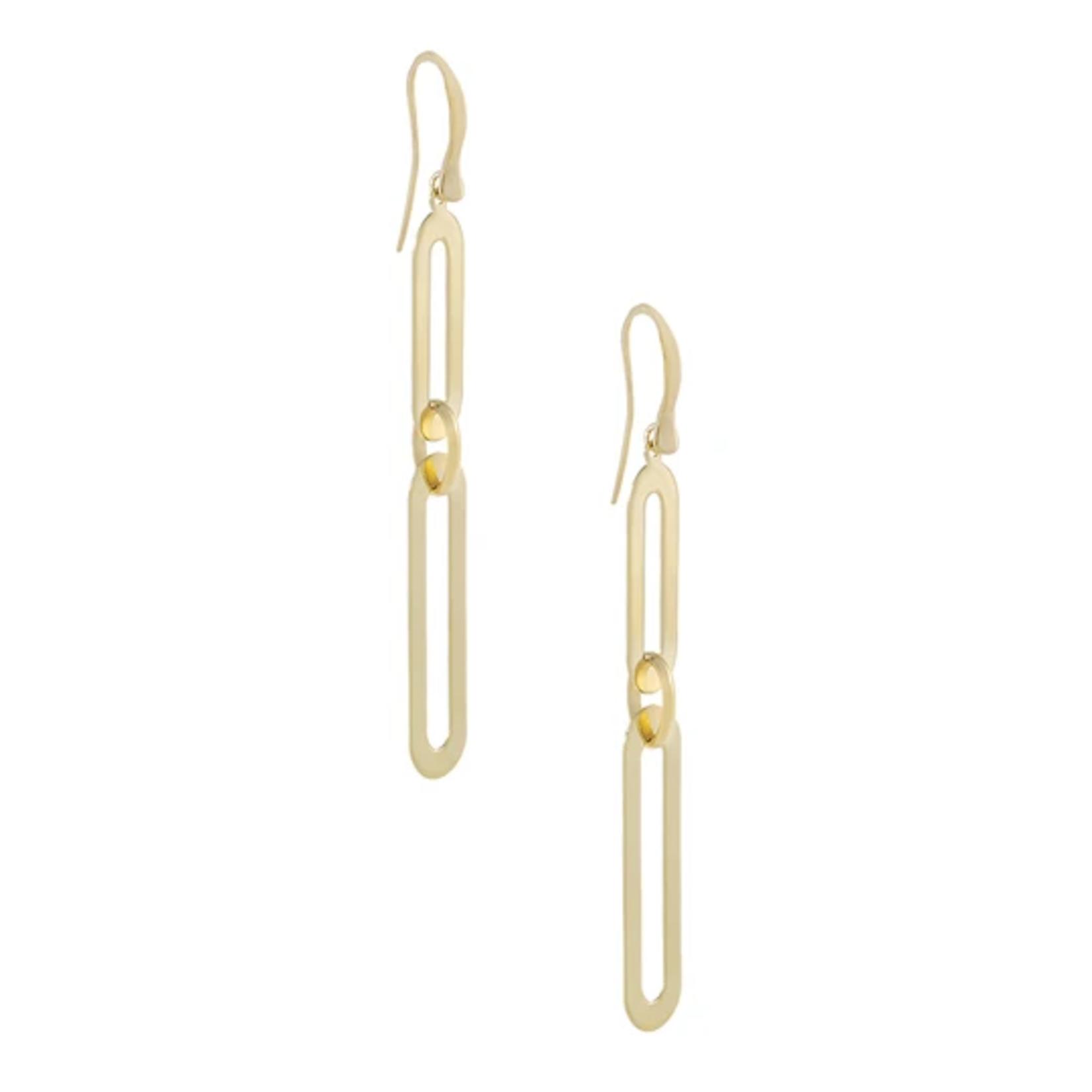 Adinas Large Paperclip Threader Drop Earring 14K