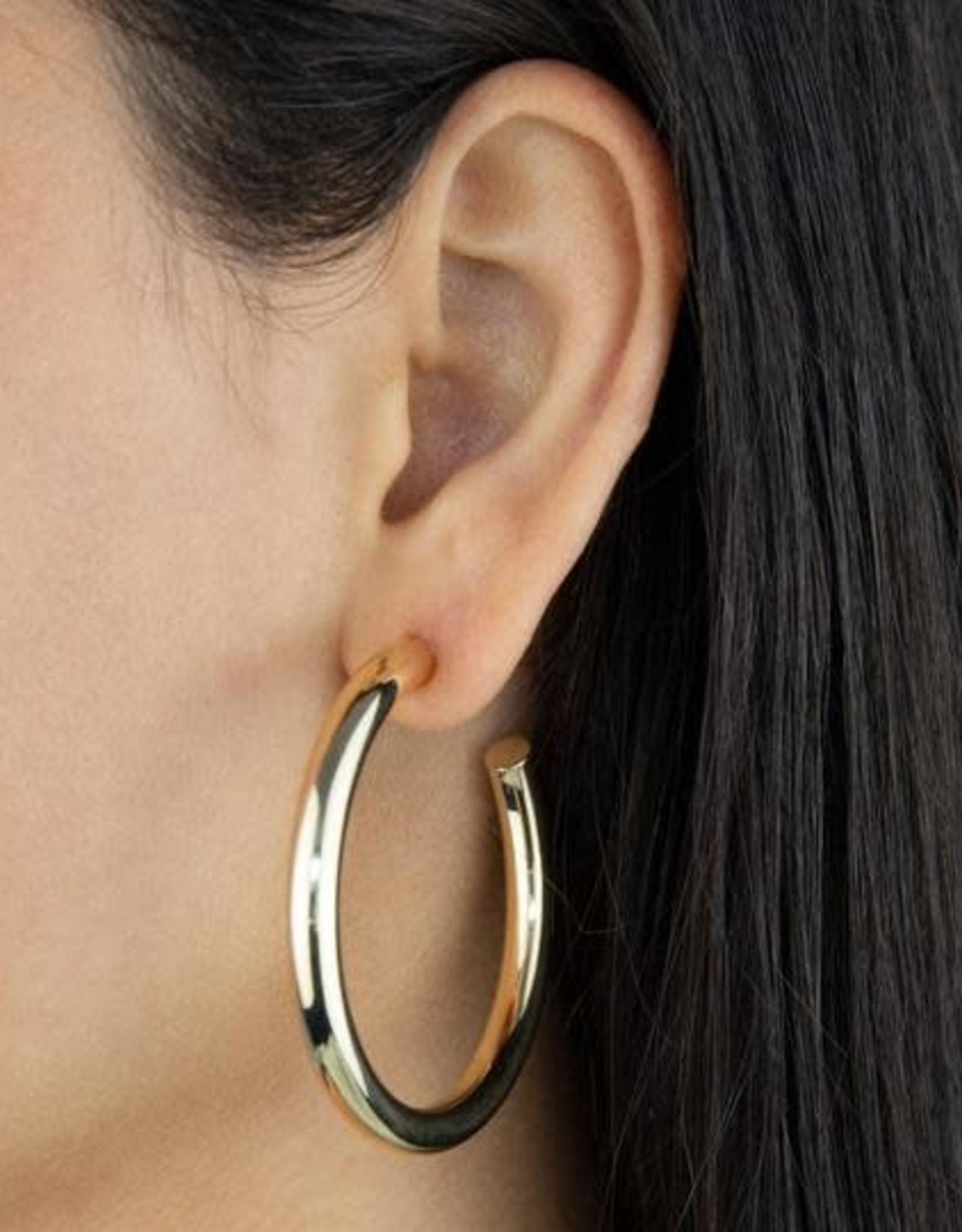Adinas Large Hollow Hoop Earring 14K