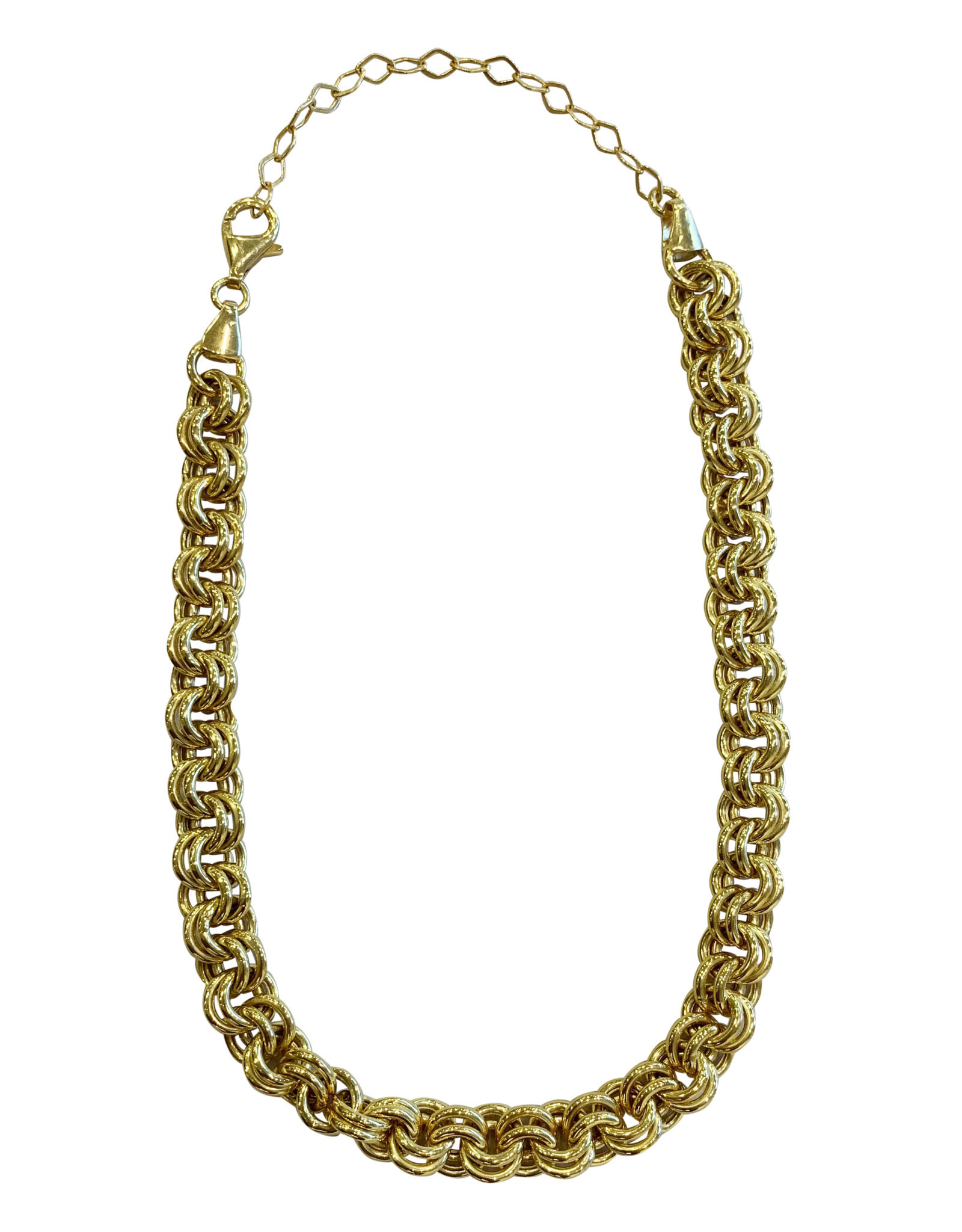 Adinas Hollow Rounded Rolo Necklace