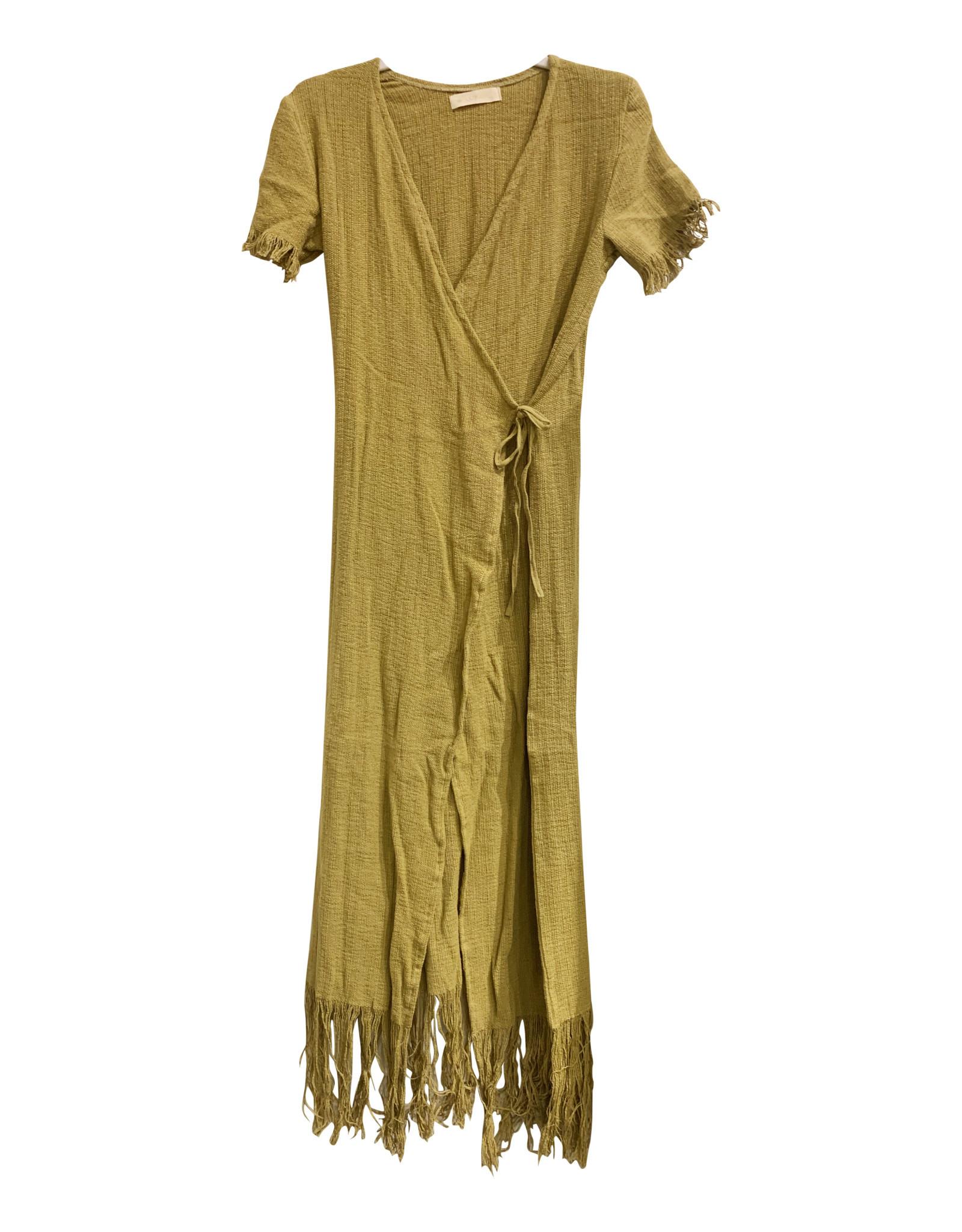 La Troupe Vestido Sandalo Mustard