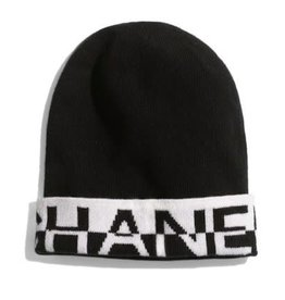 Wyld Blue Black White Chanel Beanie