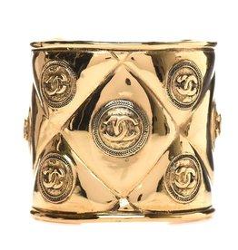 Wyld Blue Vintage Chanel Vintage CC Medallion Gold Cuff