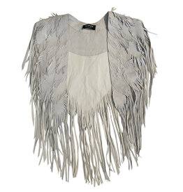 Wyld Blue Vintage Suede Feather Cape (Vintage)