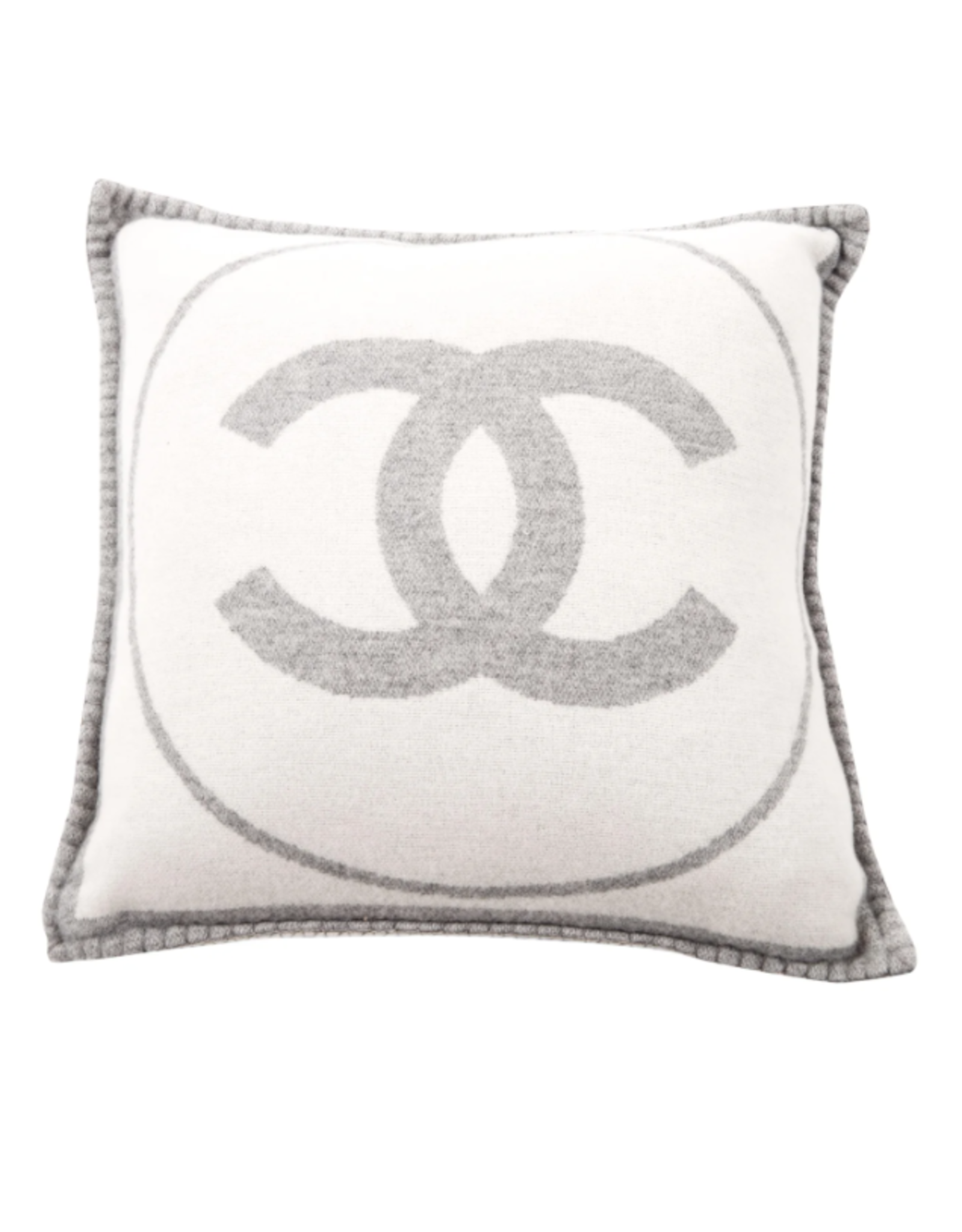 Wyld Blue Home Chanel CC Monogram Logo Large Throw Pillow