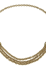 Wyld Blue Vintage Chanel Gold Triple Row Necklace