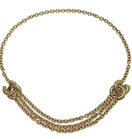 Wyld Blue Vintage Chanel Gold Triple Row Belt