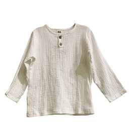 Wyld Blue Kids Linen Shirt White