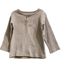 Wyld Blue Kids Linen Shirt Grey