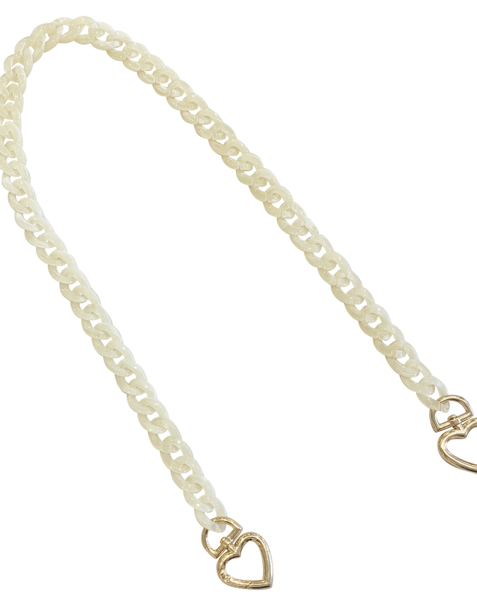Wyld Blue Neutral Acrylic Mask/Sunglasses Chain with Hearts