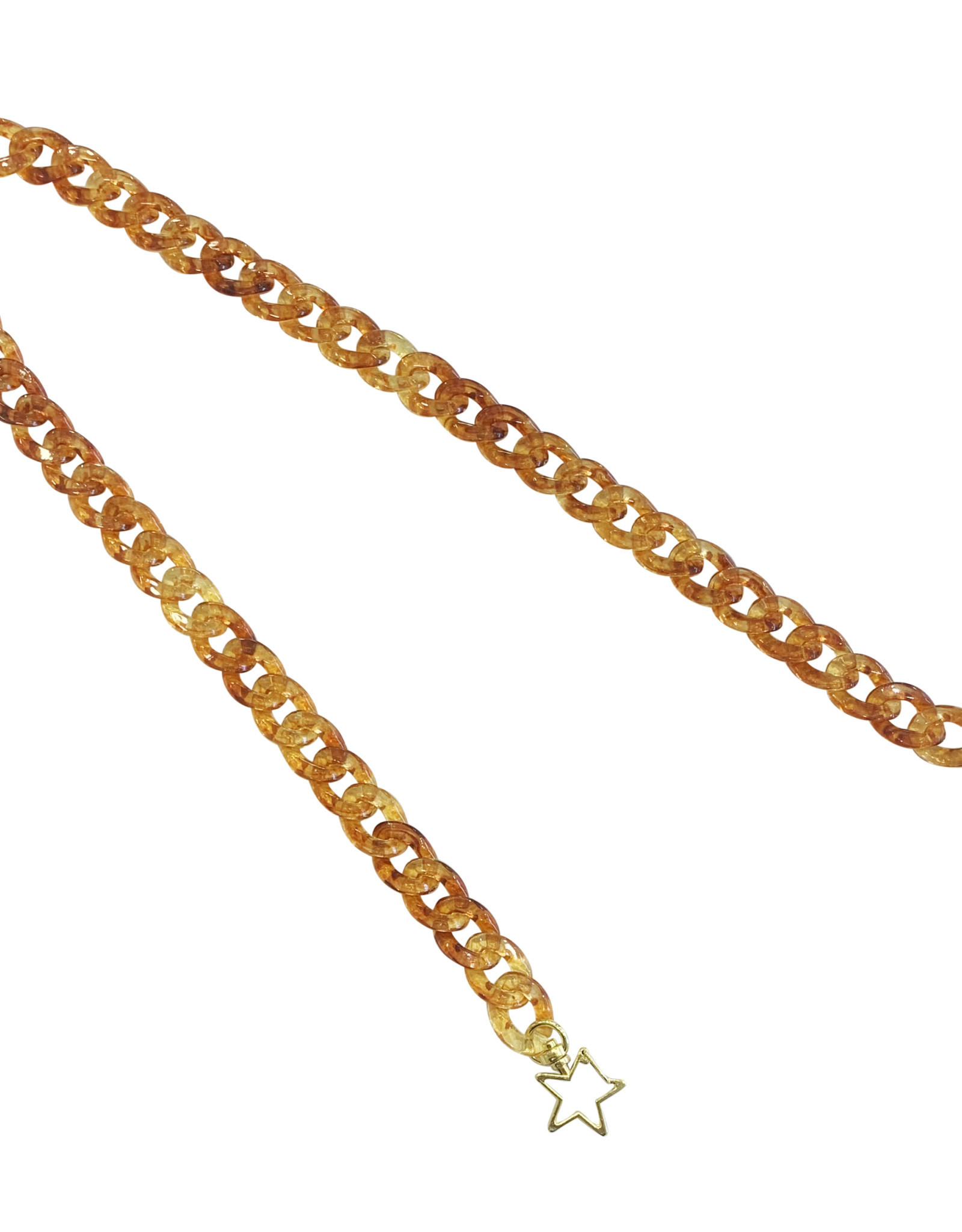 Wyld Blue Neutral Acrylic Mask/Sunglasses Chain with Stars