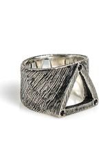Buck Palmer Triangle Ring Black Diamond