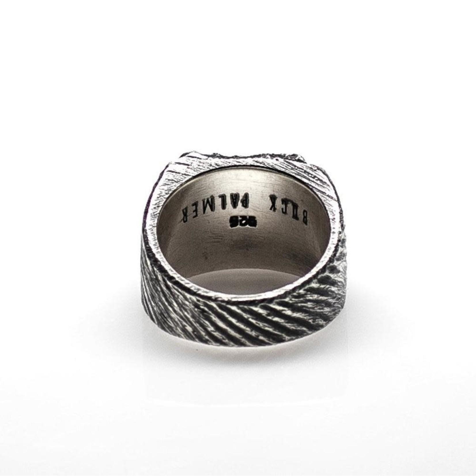 Buck Palmer Square Cignet Ring Black Diamond
