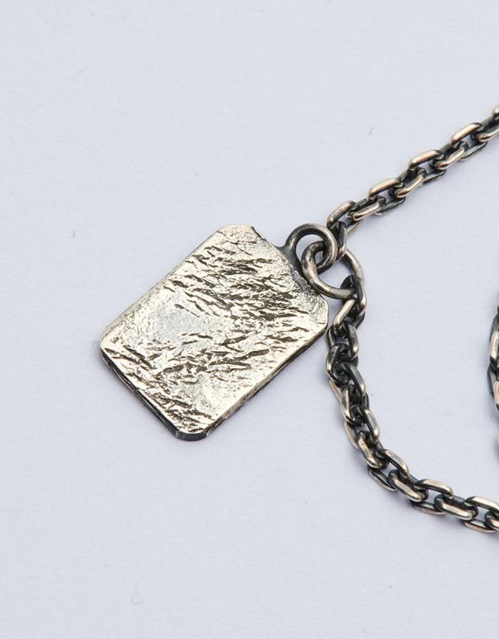 Buck Palmer Rustic Tag Necklace