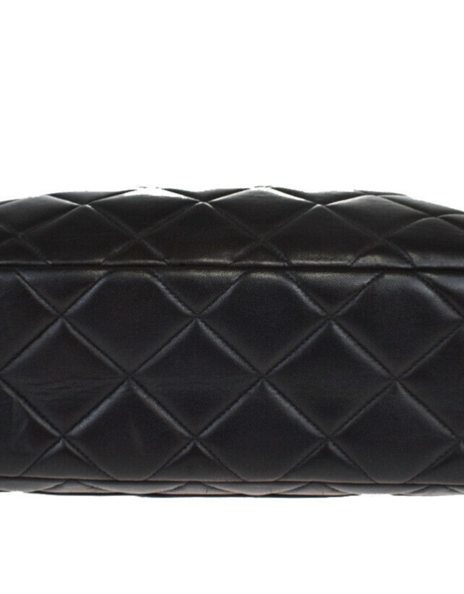 Wyld Blue Vintage Chanel Large Quilted Leather Shoulder Bag