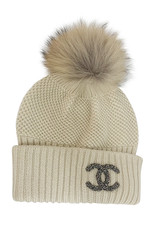 Wyld Blue Vintage Chanel Fur Knit Beanie