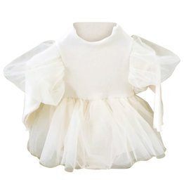 Wyld Blue Kids Cream Tutu Onesie