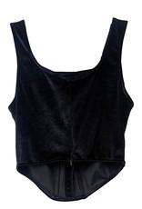 Wyld Blue Black Velvet Corset Top