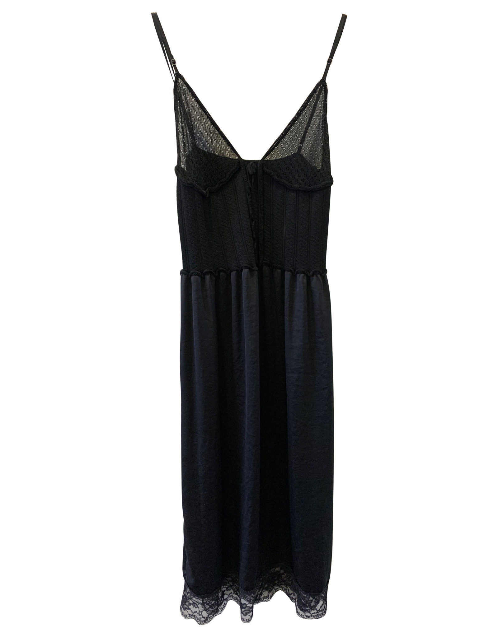 Alexander McQueen Alexander McQueen Black Silk Dress
