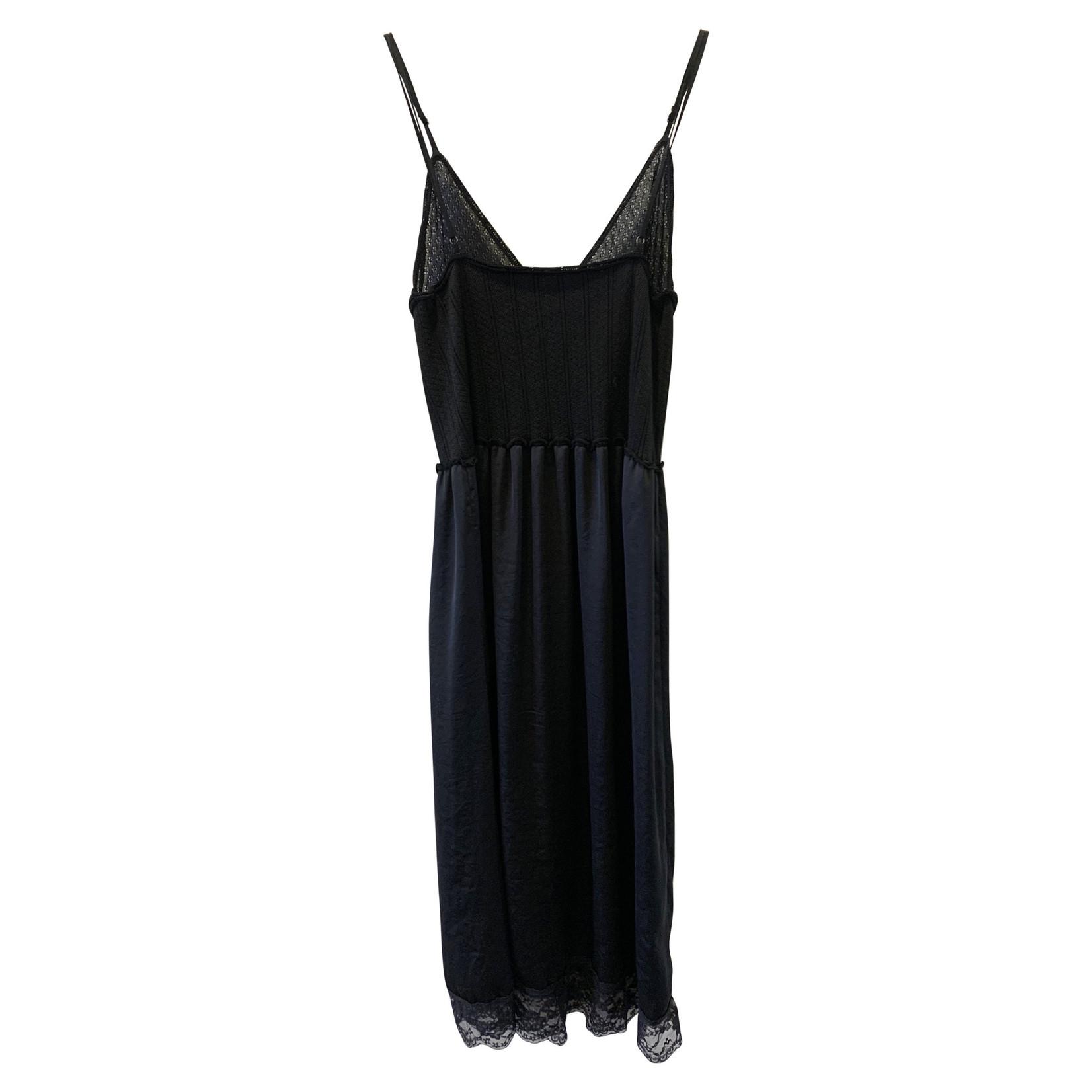 Alexander McQueen Alexander McQueen Black Silk Dress