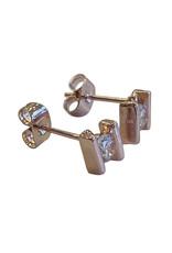 Wyld Blue Rose Gold Diamond Studs