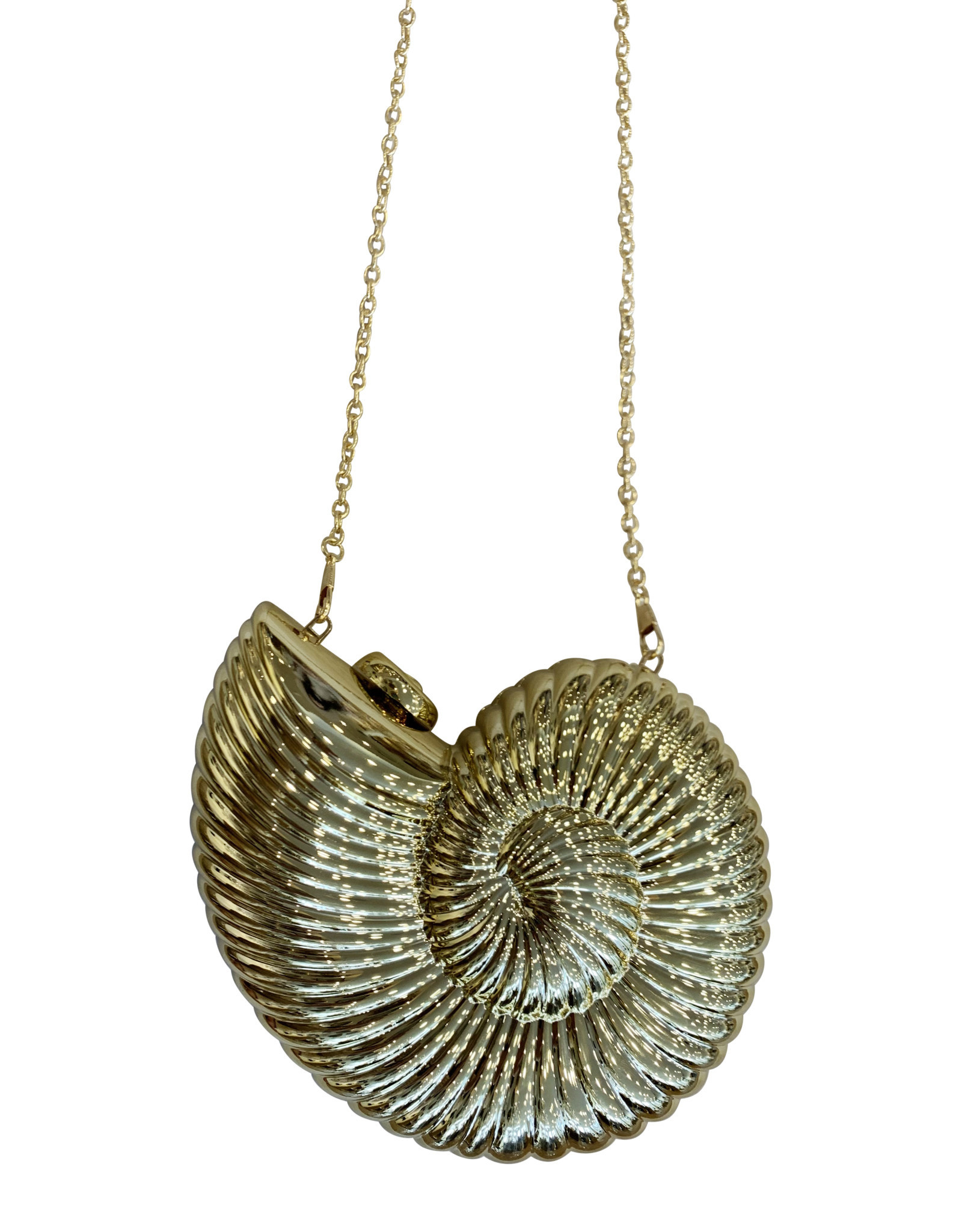 Wyld Blue Gold Shell Purse