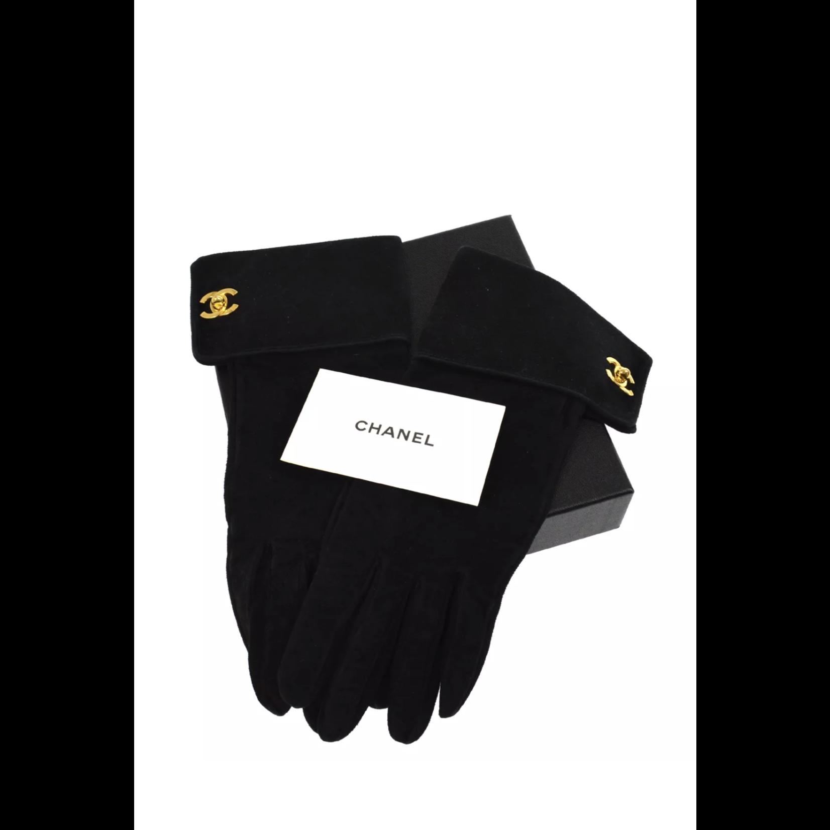 Wyld Blue Vintage Chanel Suede Gloves