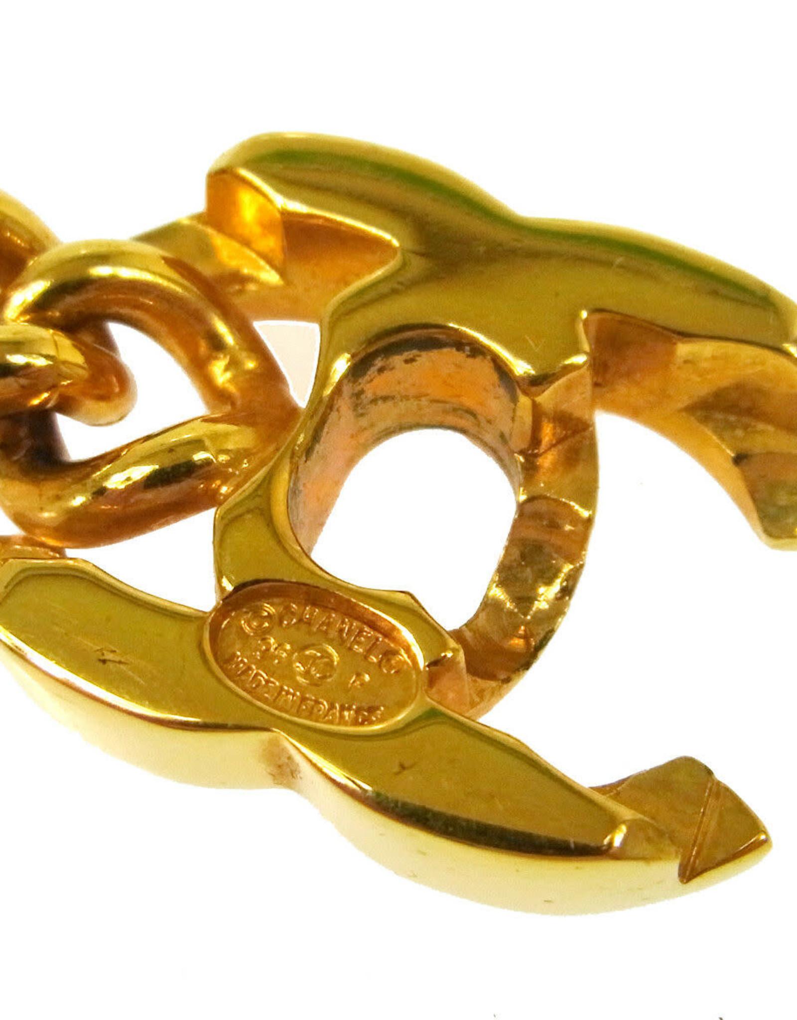 Chanel Chanel Turnlock Gold Chain Bracelet (1995 Vintage)
