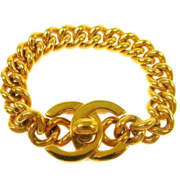 Chanel Chanel Turnlock Gold Chain Bracelet (1995 Vintage)