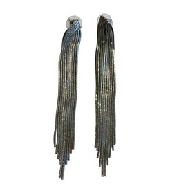 Wyld Blue Silver Tassel Earrings