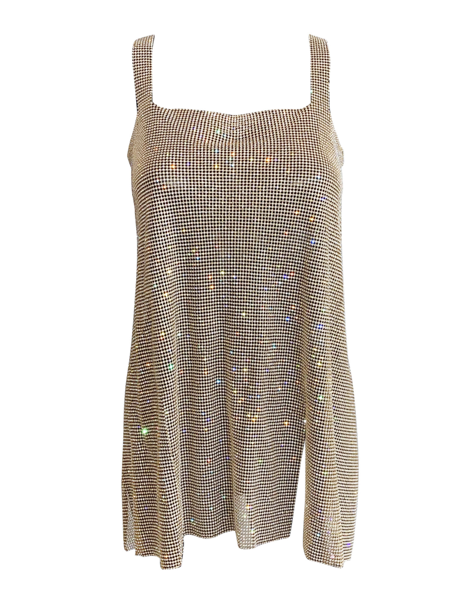 Wyld Blue Dual Slit Chainmail Dress Gold