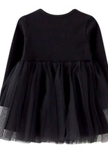Wyld Blue Long Sleeve Tutu Dress - Black