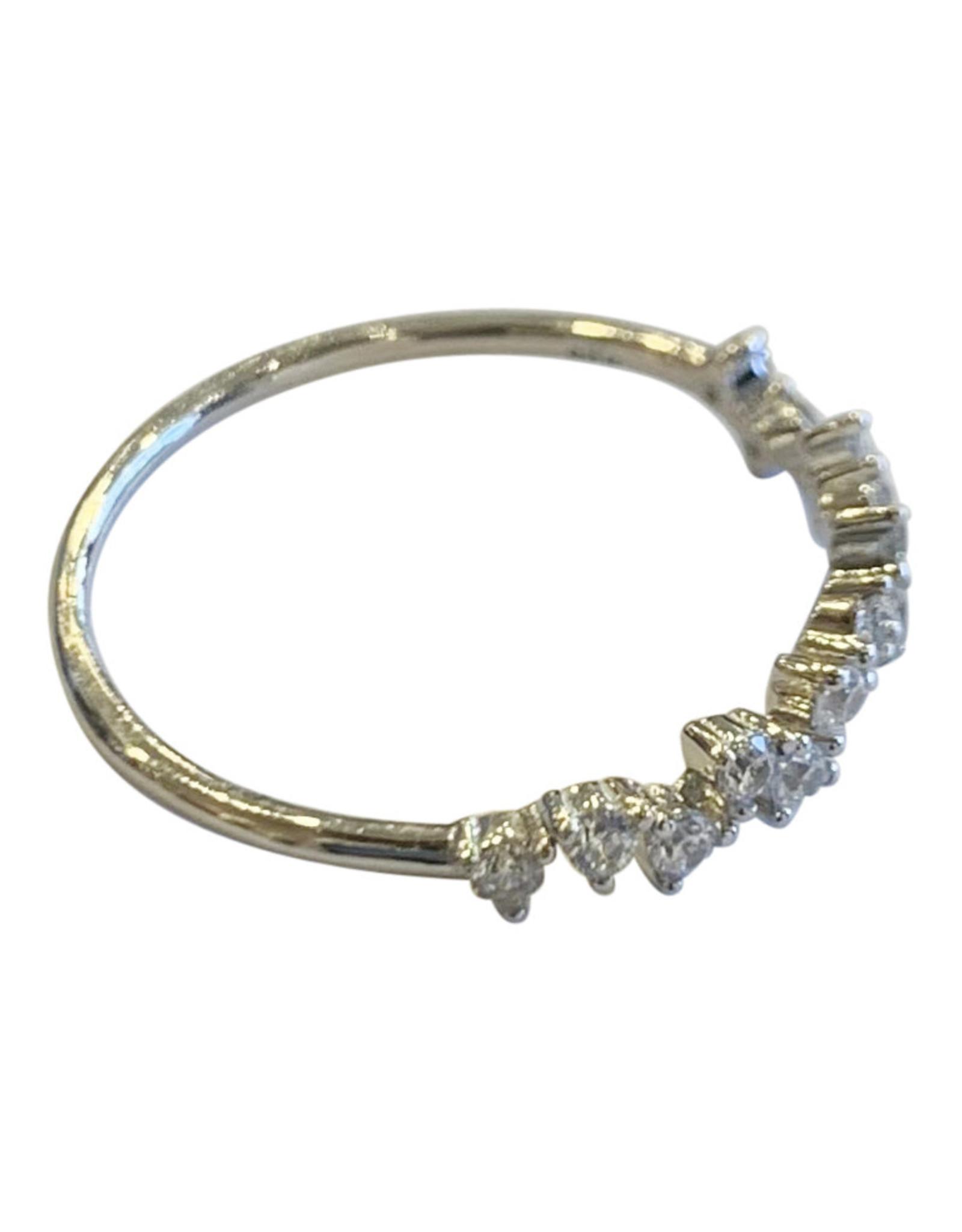 Wyld Blue Crystal Detail Split Ring