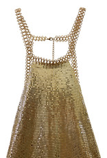 Wyld Blue Gold Chainmail Dress