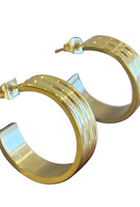 Wyld Blue Ridged Stack Earring