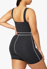 Shop WeWoreWhat Black Corset Bodysuit