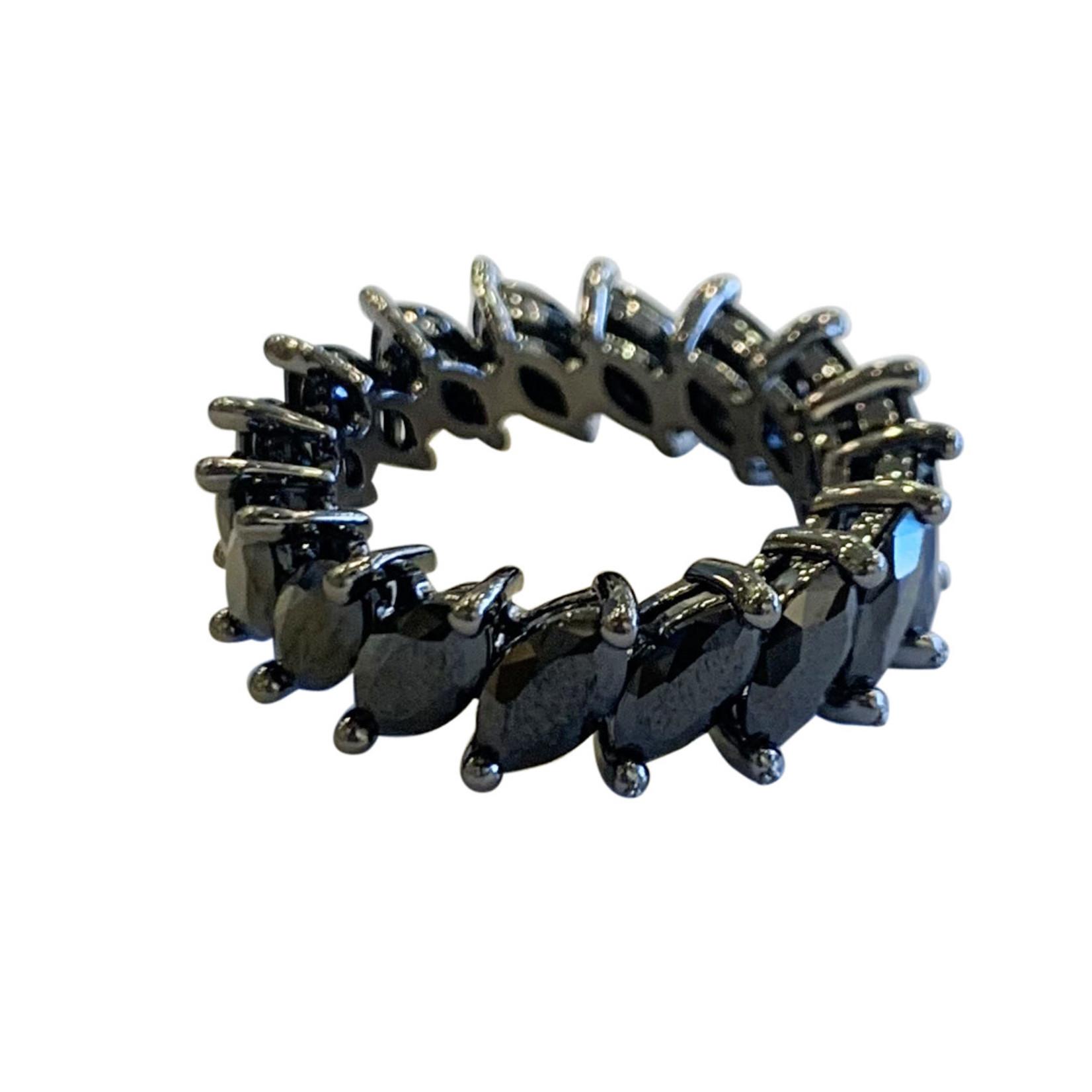 Wyld Blue Thick All Black Gem Ring