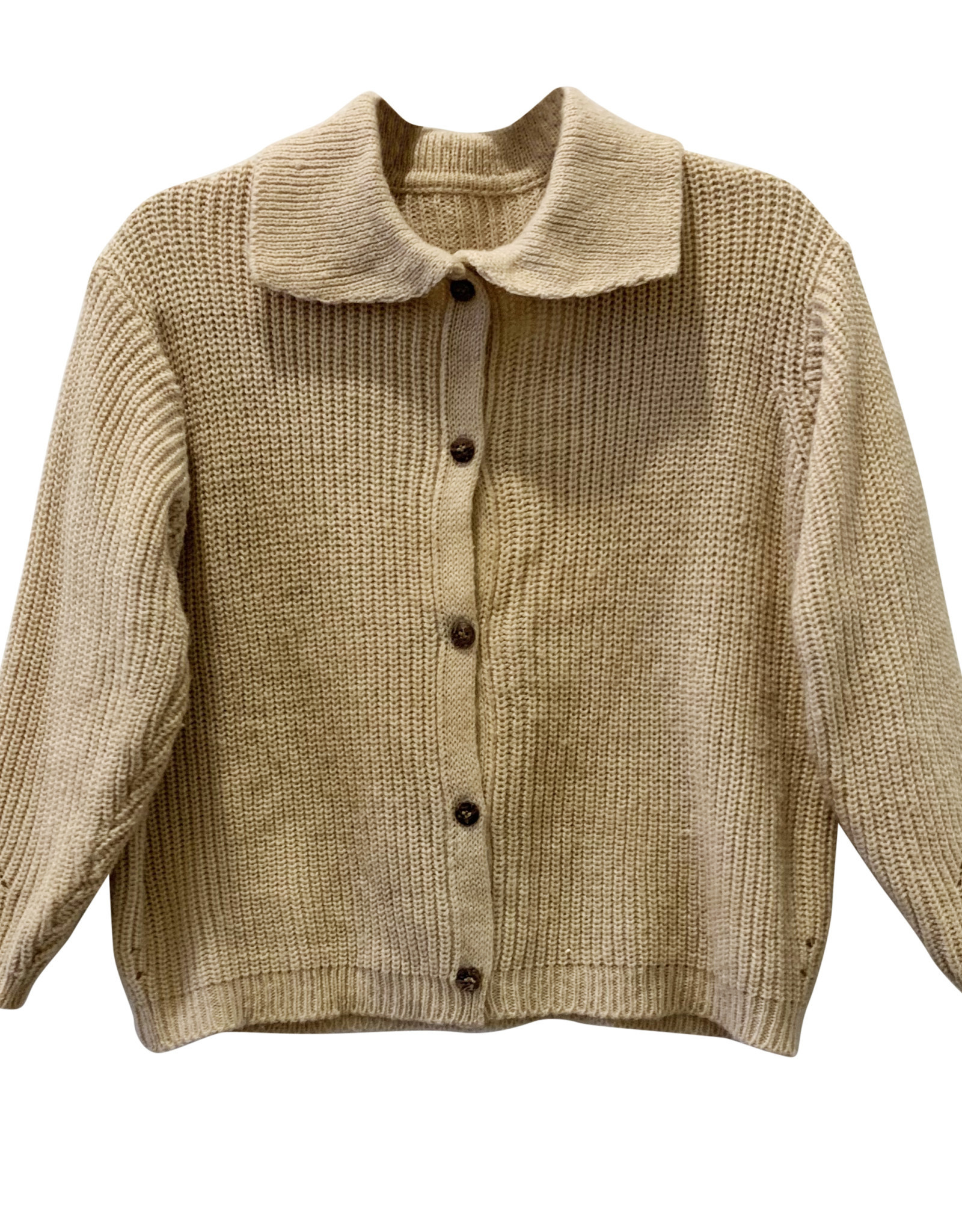 Wyld Blue Kids Button Up Sweater