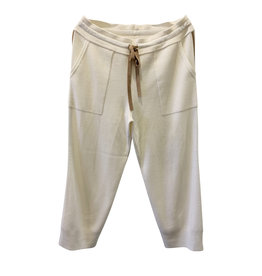 Wyld Blue Oyun White Knit Wool Pants (sz S)