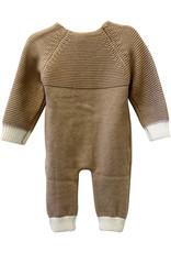 Wyld Blue Kids White Tip Knit Detail Jumpsuit 12m